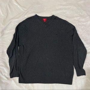 Mossimo Mens Grey V-Neck Sweater XXL